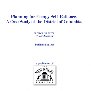 planning for energy self reliance cover