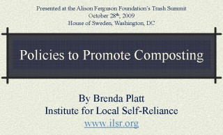 Cover Policies to Promote Composting