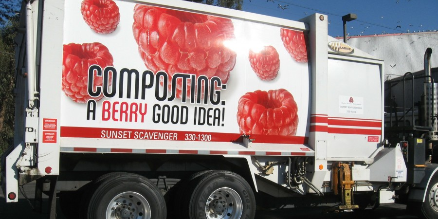 Composting Berry truck