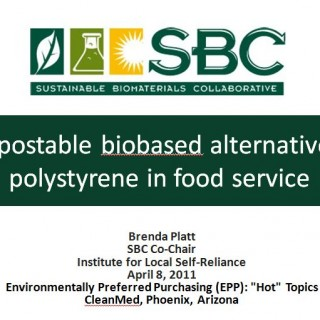 Cover Compostable biobased alternatives to polystyrene in food service