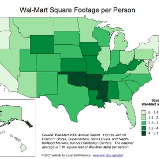 Walmart Square Footage per Person