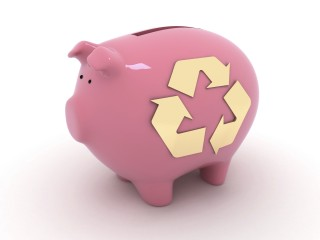 Recycling Piggy Bank_iStock_000009635788Large