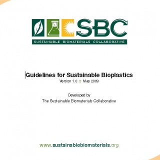 Guidelines for Sustainable Bioplastics Cover