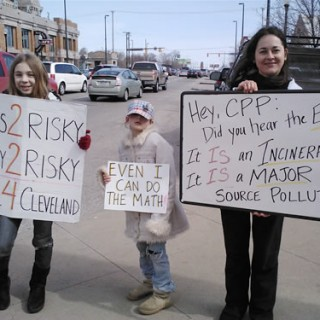 cleveland young people with anti-incin signs