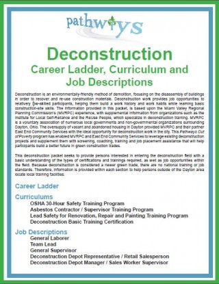 Deconstruction career ladder cover