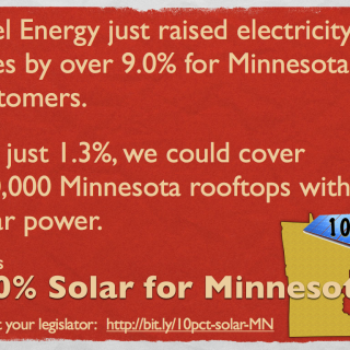 Cost of 10 Percent Solar for MN
