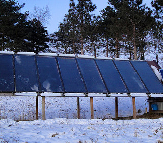 Winter solar panels Minnesota