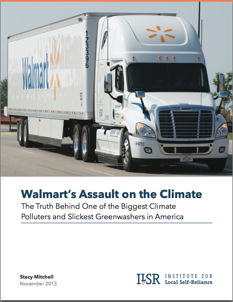 Cover Image: Walmart Climate Report