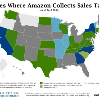 States Where Amazon Collects Sales Tax - April 2014.001-001