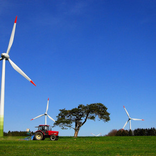 tractor and wind turbines - flickr  Alexander Boden