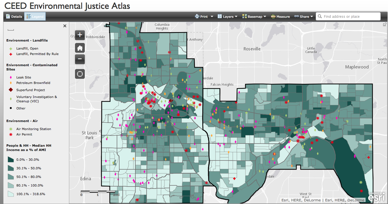 CEED environmental justice atlas Minneapolis stpaul mn