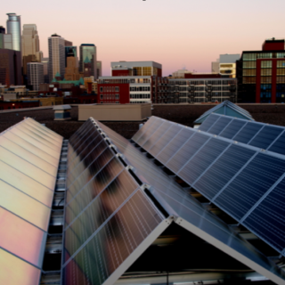 tenKsolar solar and Minneapolis skyline