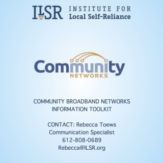 Community Broadband Networks Press Packet cover page
