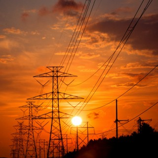 sun and transmission lines - flickr Dennis Wilkinson
