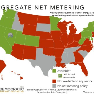 aggregate net metering policy map ILSR 2013