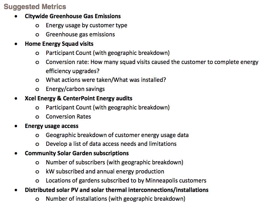 clean energy partnership proposed metrics